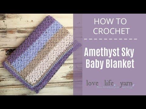 Amethyst Sky Baby Blanket
