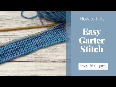 How to Knit: Garter Stitch (Easy Tutorial)