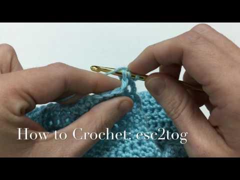 How to Crochet: esc2tog