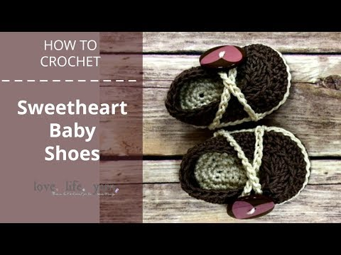 How to Crochet: Sweetheart Baby Shoes