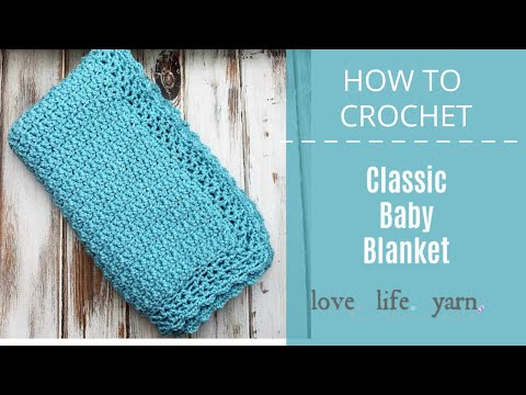 Classic Crochet Baby Blanket