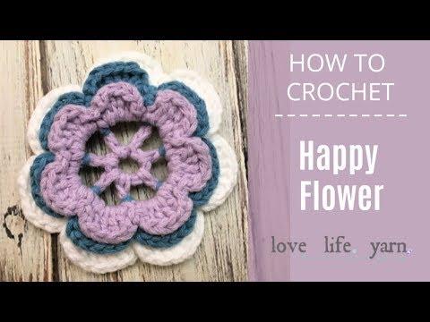 How to Crochet: Happy Flower