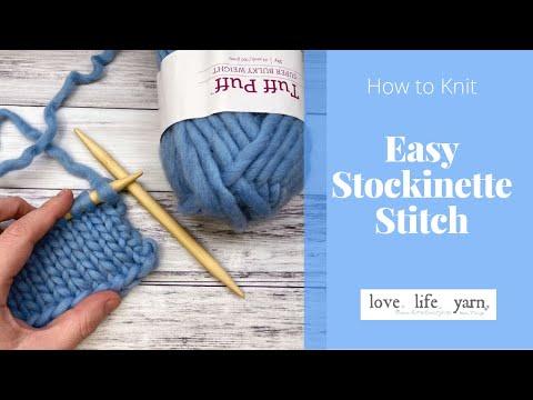 How to Knit: Stockinette Stitch