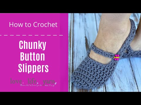 Chunky Button Slippers