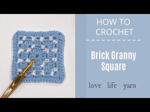 How to Crochet: Brick Granny Square