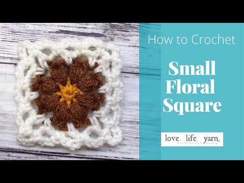 Small Crochet Square   Easy Tutorial