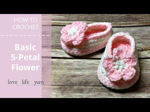 How to Crochet: Basic Five-Petal Flower