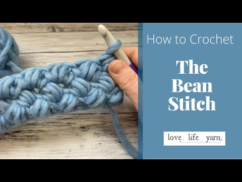 How to Crochet: Bean Stitch (Easy Tutorial)