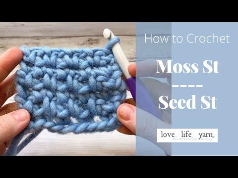 Moss Stitch Crochet Video Tutorial