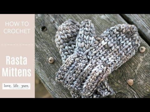 How to Crochet: Rasta Mittens