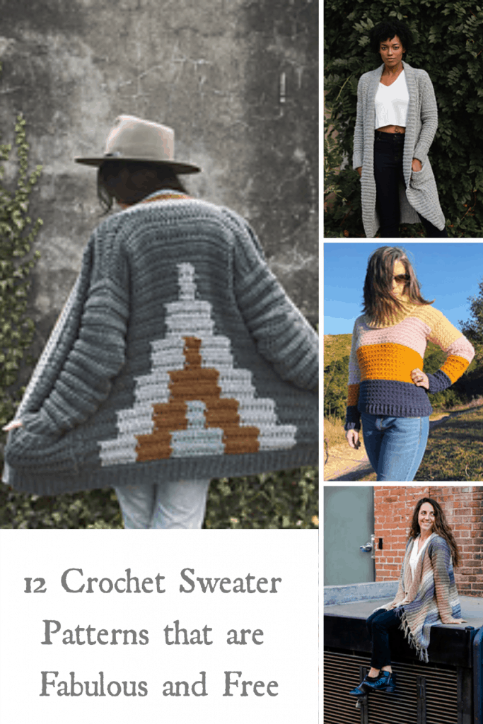 12 crochet sweater patterns that are fabulous and free