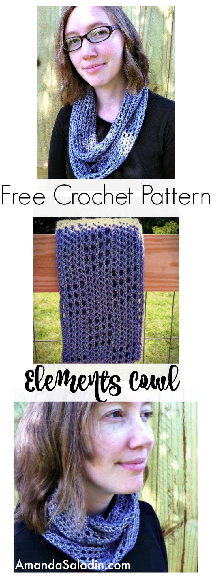 Free Crochet Pattern - Elements Cowl