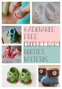 6 Free Crochet Baby Booties Patterns compiled by Designing Crochet