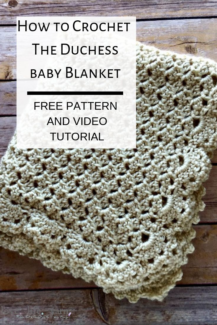 image about Free Printable Knitting Patterns for Baby Blankets named Duchess Youngster Blanket - Absolutely free Crochet Routine - take pleasure in. lifestyle. yarn.