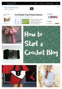 Start a Crochet Blog of Your Own!