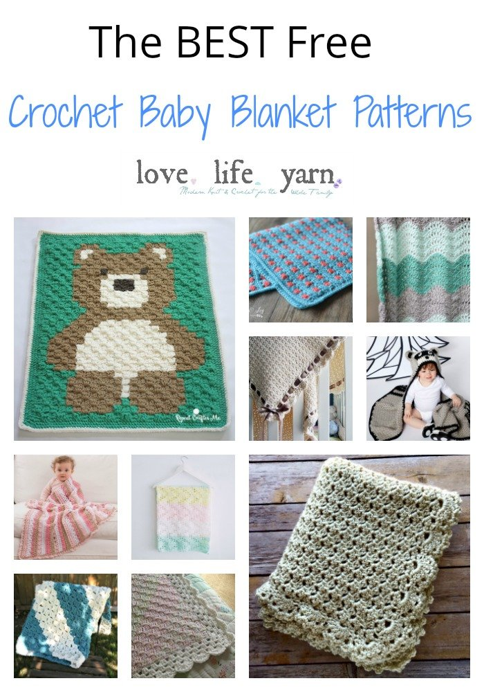 These are seriously the BEST baby blanket patterns out there - I can't believe they are free!  I am adding several of these to my make 9 and can't wait to get started.  You have GOT to see #10!