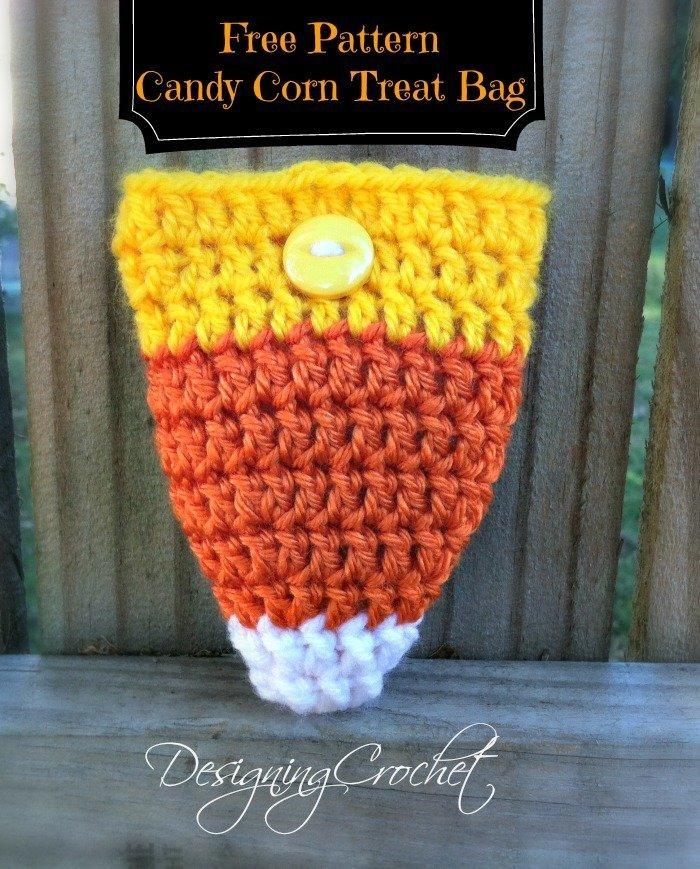Free Pattern - Candy Corn Treat Bag from Designing Crochet by Amanda Saladin