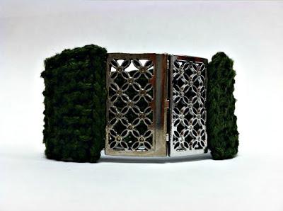 Tunisian Cuff - Free Crochet Pattern from Amanda Saladin