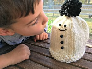 Free Knitting Pattern - Christian's Snowman Hat