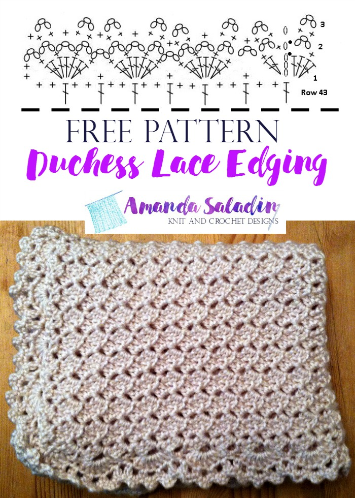 Free Pattern - Duchess Lace Edging by Amanda Saladin