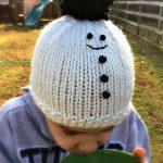 Free Knitting Pattern - Christian's Snowman Hat by Amanda Saladin