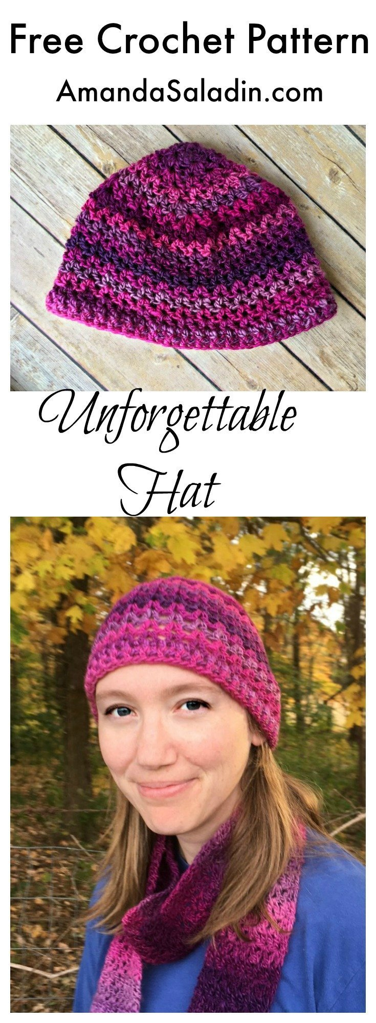 Super Easy Hat Pattern! Matches the scarf :)