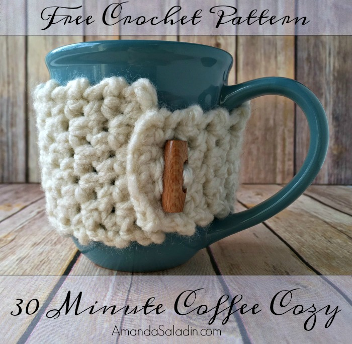 Free Crochet Pattern - 30 Minute Coffee Cozy by Amanda Saladin