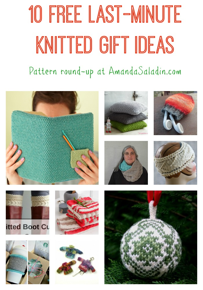 10 Free Last Minute Knitted Gift Ideas - you still have time to make a knitted gift!