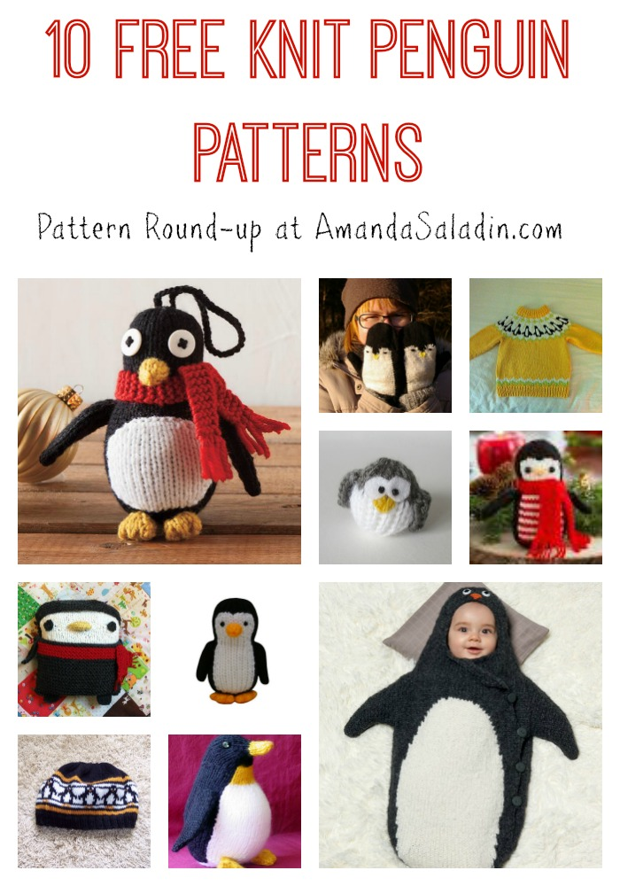 10 Free Knit Penguin Patterns at AmandaSaladin.com