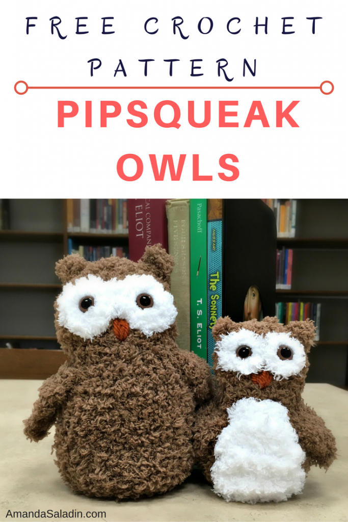 Free Crochet Pattern - Pipsqueak Owls by Amanda Saladin