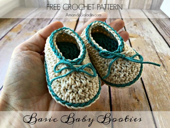 Basic Baby Booties - Free Crochet Pattern - love  life  yarn