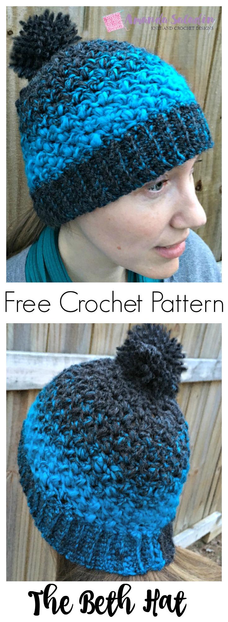 Free Easy Crochet Pattern - The Beth Hat