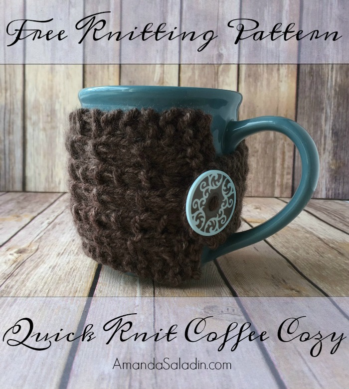 Free Knitting Pattern - Quick Knit Coffee Cozy by Amanda Saladin