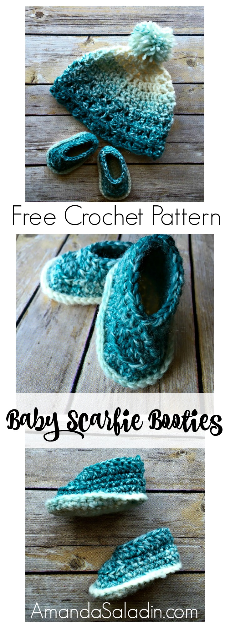 Free Crochet Pattern. Super simple baby boots!