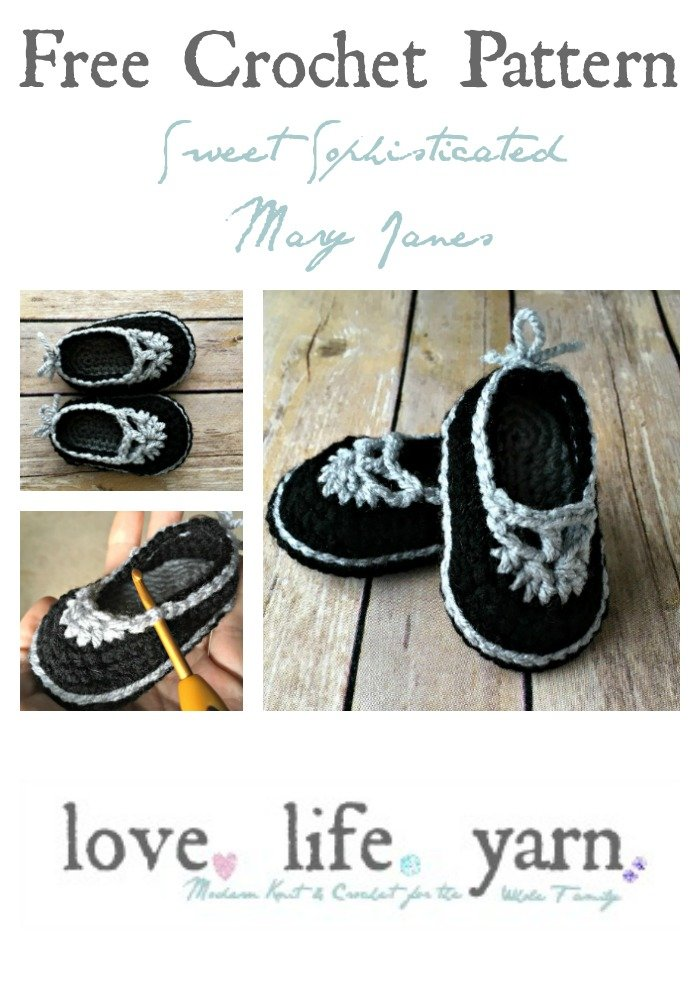 Sweet Sophisticated Mary Janes - Free Crochet Pattern