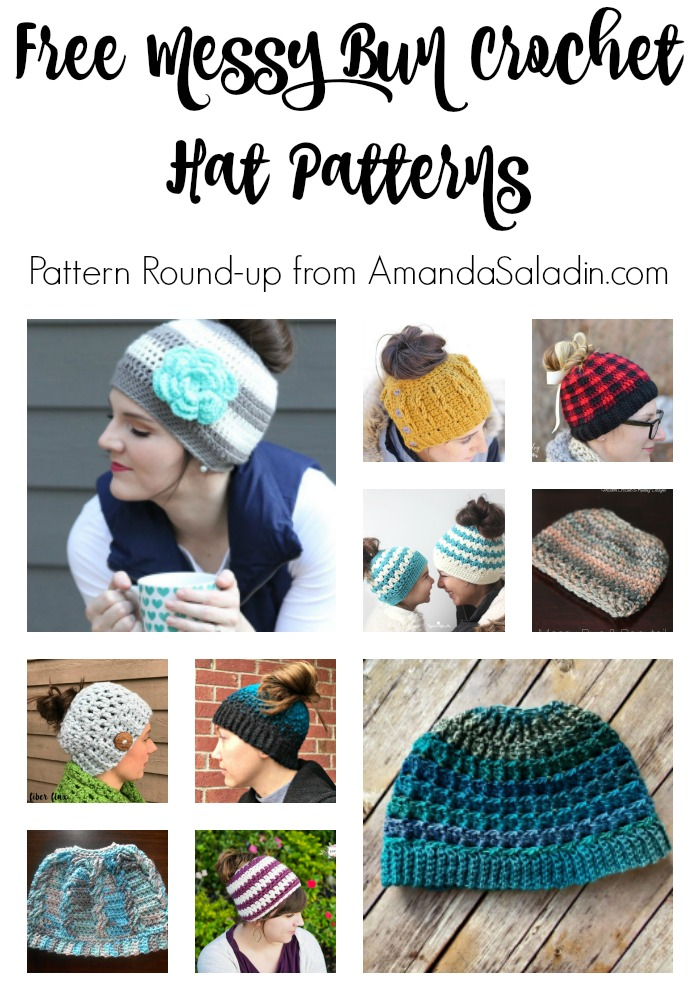 faff60614fe Free Crochet Messy Bun Hat Patterns - love. life. yarn.