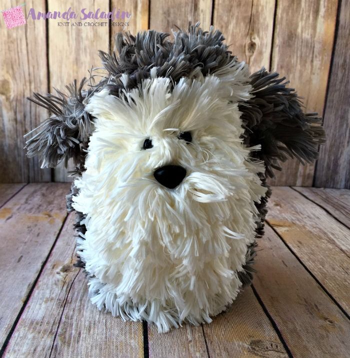 Free Knitting Pattern - Puppy Love Puffball