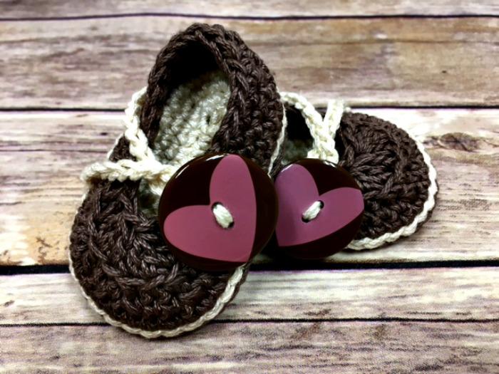 Free Crochet Pattern - Sweetheart Baby Shoes
