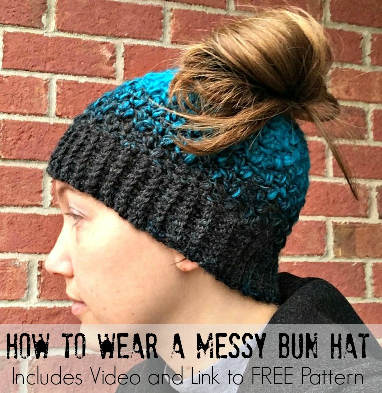 How to Wear A Messy Bun Hat