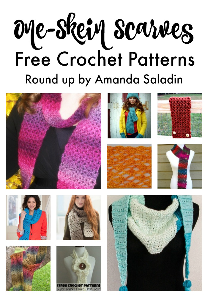 Beautiful free crochet one skein scarf patterns