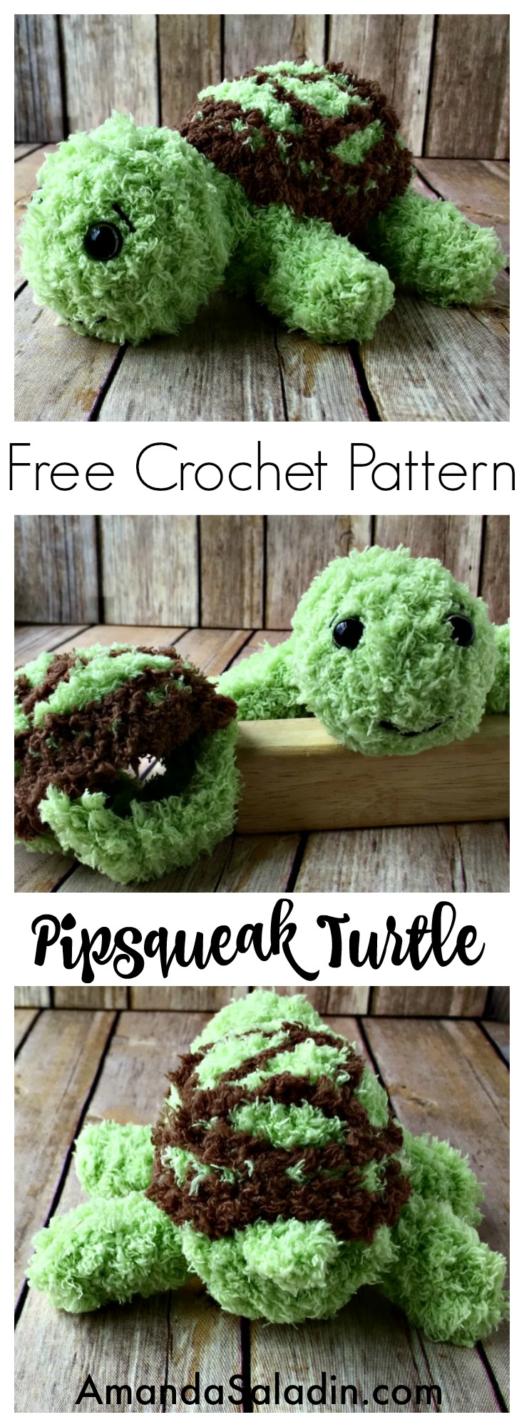 Crochet this adorable turtle - it's so easy! Free pattern!