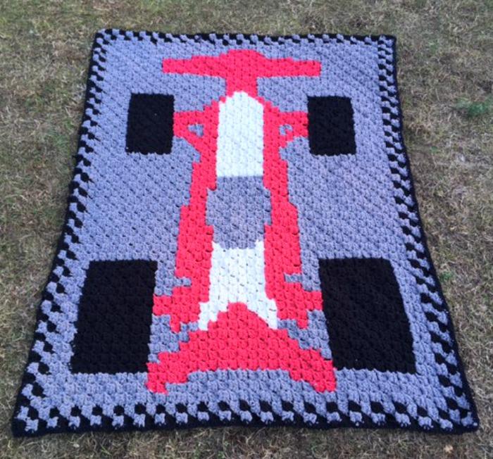 C2C Race Car Blanket - Free Crochet Pattern - love  life  yarn