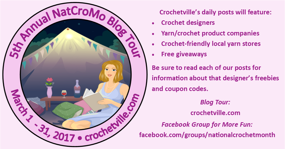 Crochetville National Crochet Month Blog Tour