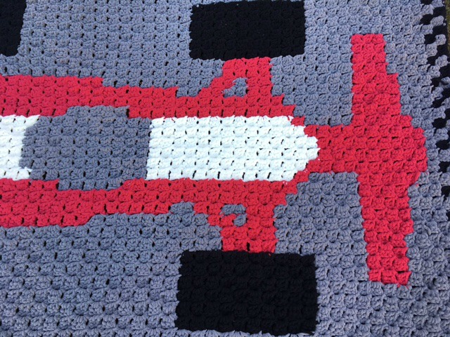 Free Crochet Pattern - C2C Race Car Blanket