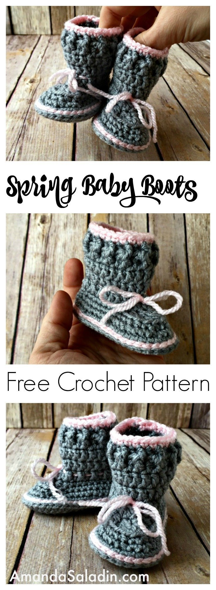 Cute and easy baby boots! Free pattern! I have got to make these...