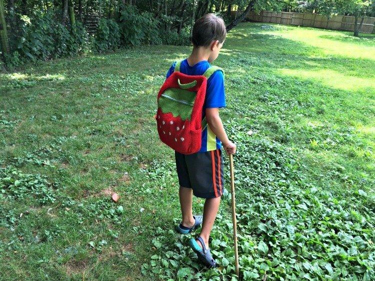 Free Knitting Pattern - Sweet Strawberry Backpack