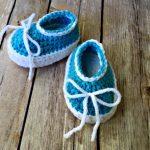 Free Crochet Pattern - Simple Baby Slip-On Booties