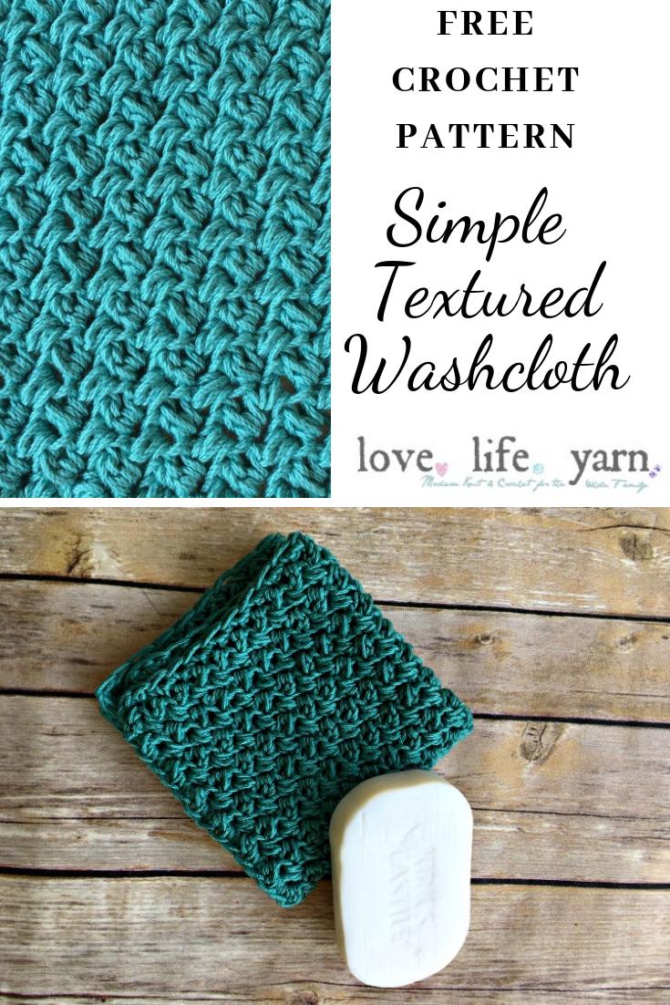 Simple Textured Washcloth - Free Crochet Pattern