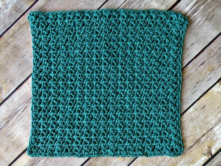 Free Crochet Washcloth Pattern Flat