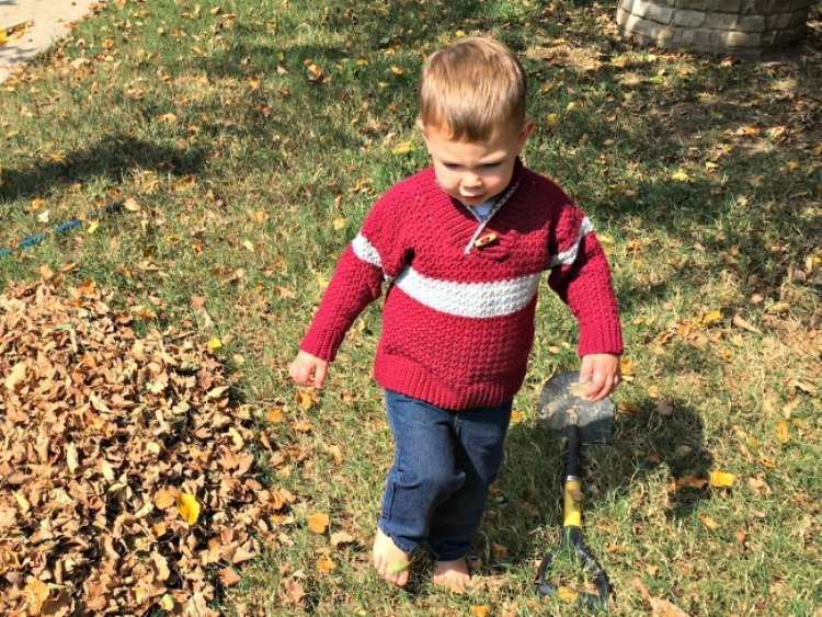Free Crochet Pattern - Boys Shawl Collar Sweater